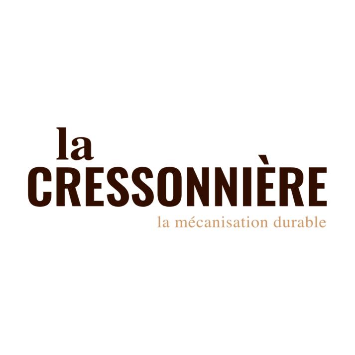 Landeau création La Cressonière logo typo