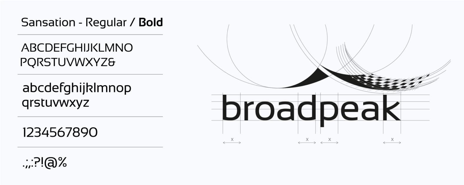 Landeau création Broadpeak construction logotype