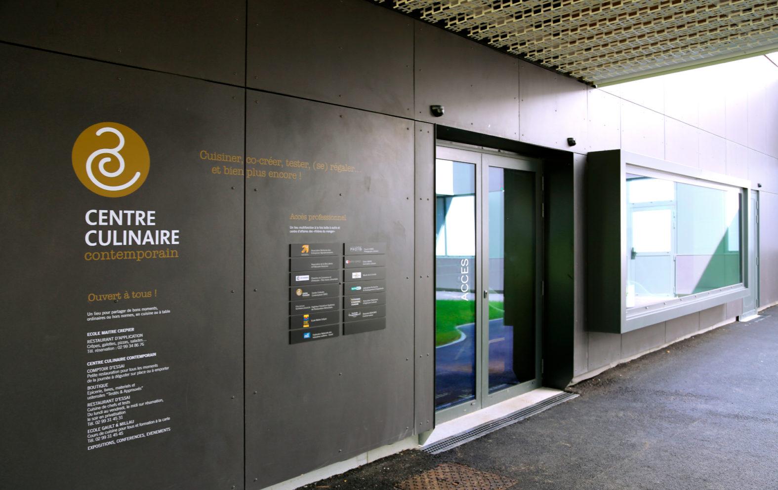 Landeau Création Centre Culinaire Contemporain Bâtiment signaletique extérieur