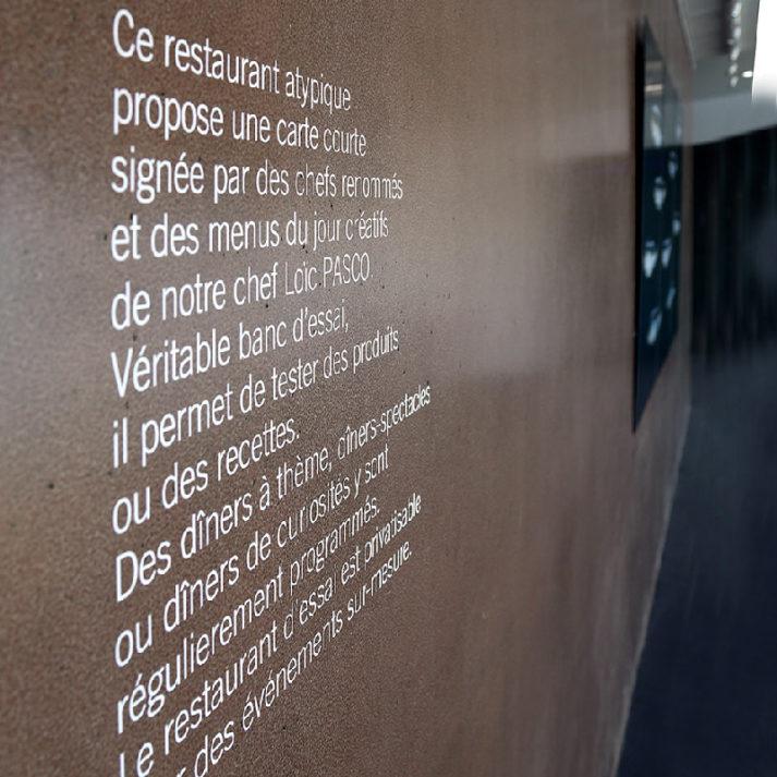 Landeau création Centre Culinaire Contemporain signalétique intérieure