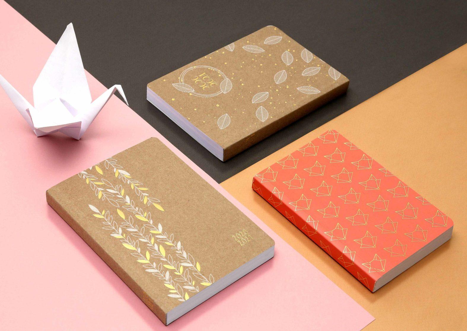 Landeau création Exacompta Agendas origami kraft
