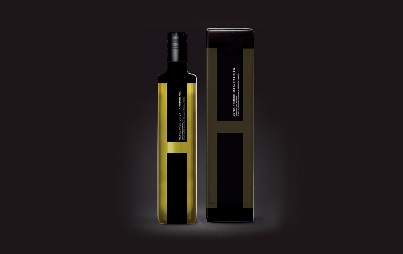 Landeau création Huile H packaging