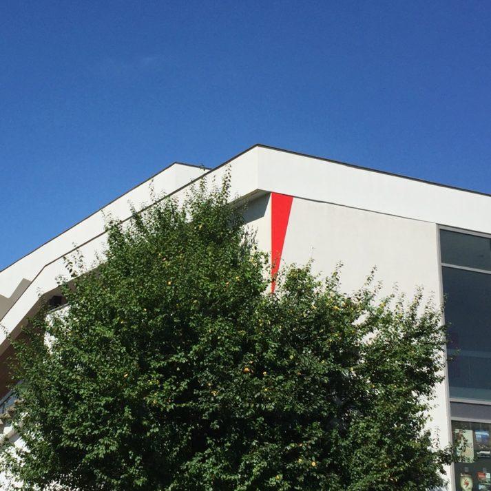 Landeau Création INSA photo signalétique angle bâtiment