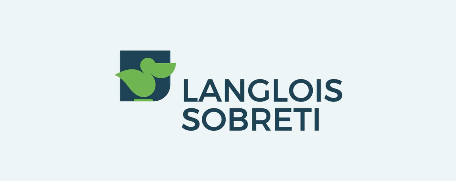Landeau création Langlois Sobreti logotype