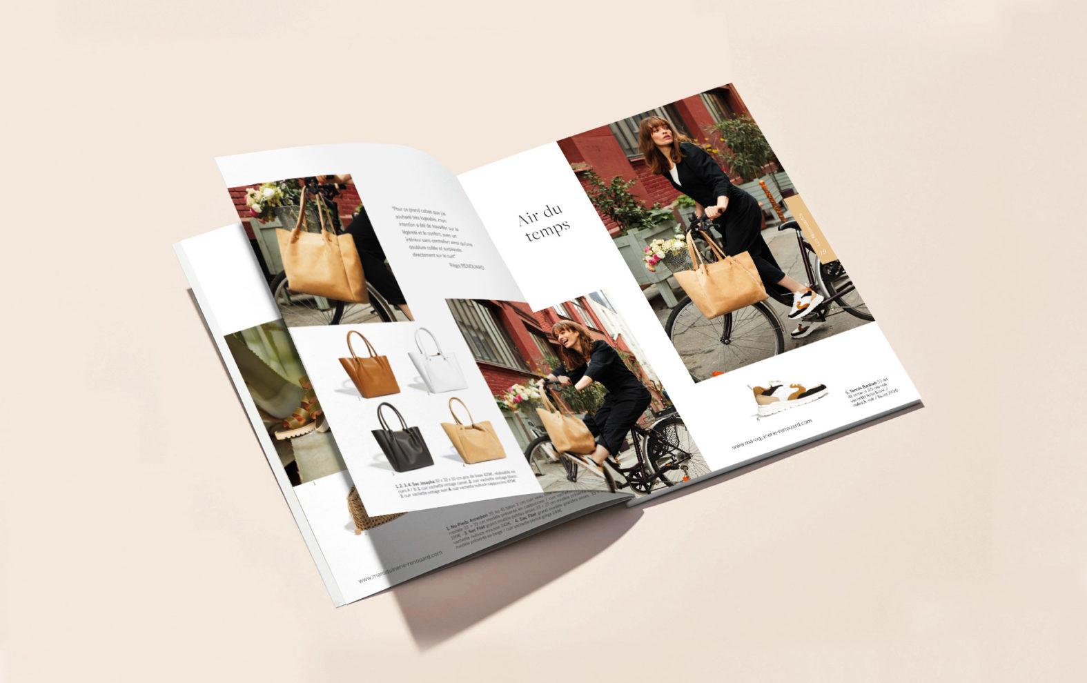 Landeau Création Maroquinerie Renouard intérieur catalogue P/E 2021