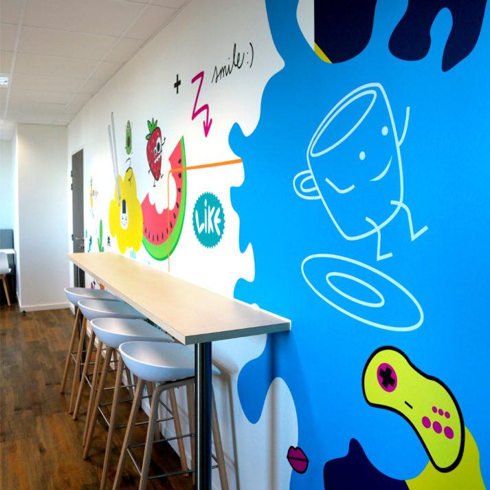 Landeau création Broadpeak graphisme d'espace cuisine