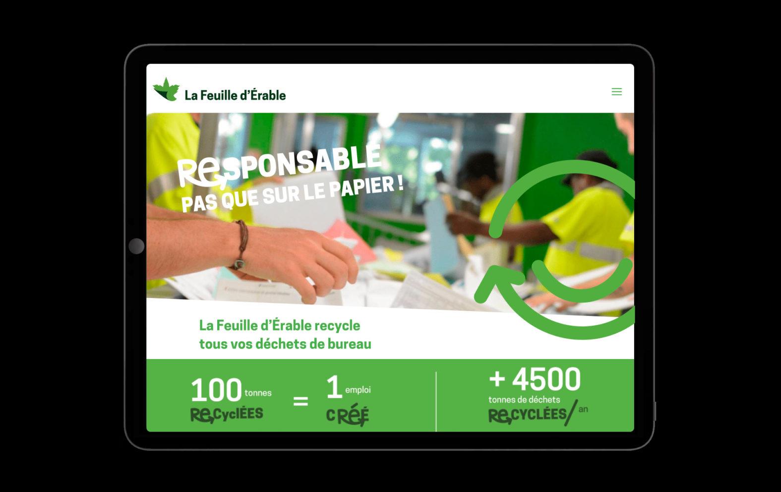 Landeau création Feuille d'érable site internet