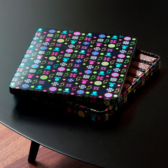 Landeau Création Loc Maria Gavottes photo boîte Noël noire