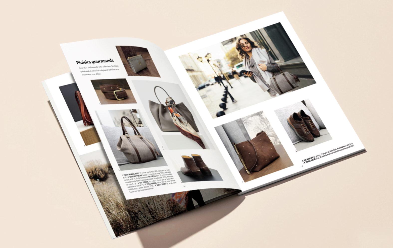 Landeau Création Maroquinerie Renouard pages intérieures catalogue