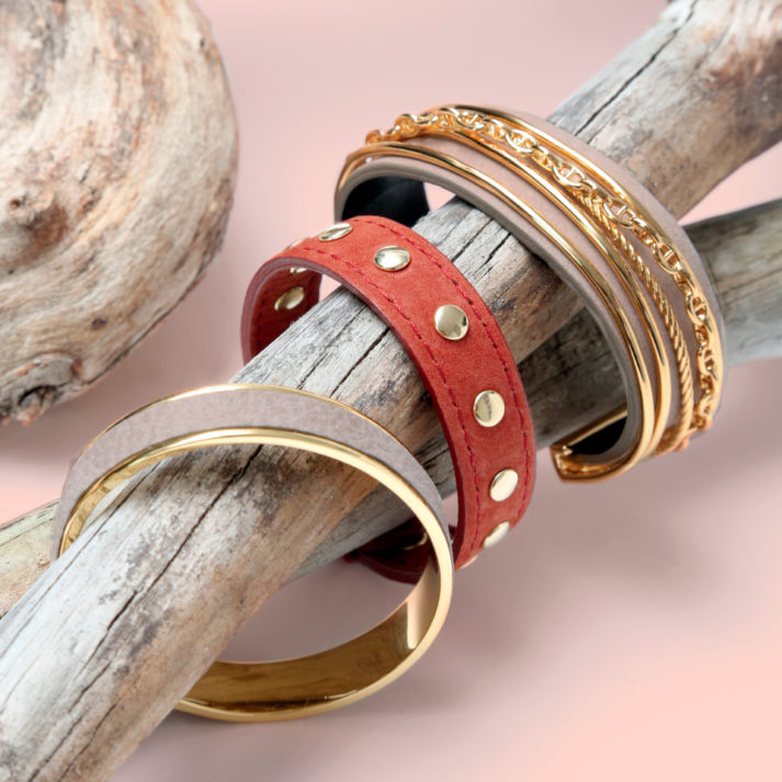 Landeau Création Maroquinerie Renouard photo d'ambiance bracelet