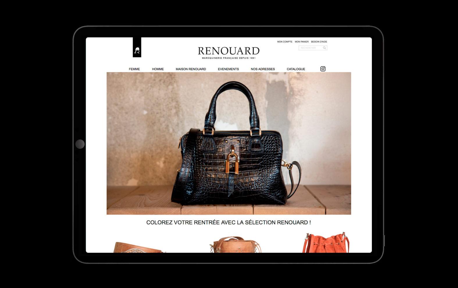Landeau Création Maroquinerie Renouard site internet