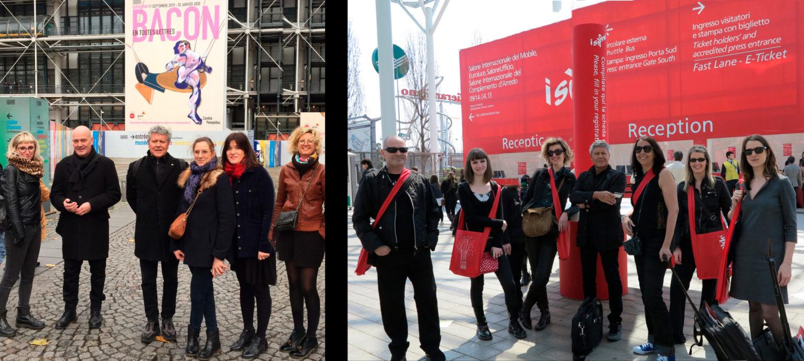 Landeau création photos voyages à Paris et Milan